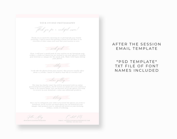 After The Session Email Template