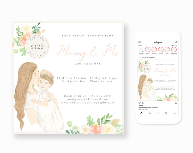 Mommy & Me Session Template