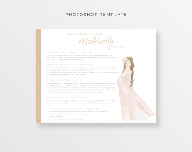 How to Prepare for your Maternity Session Template