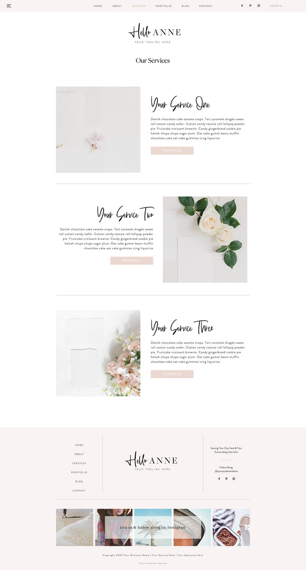 NEW* Wix Feminine Website
