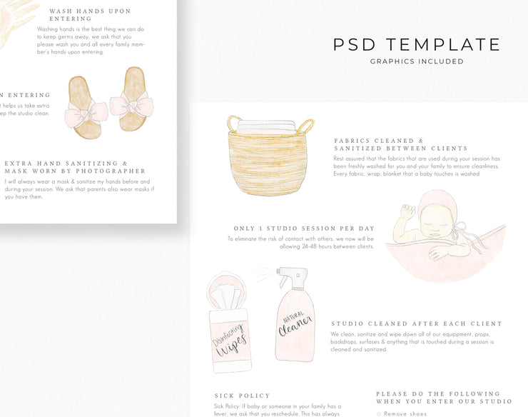 Newborn Studio Cleaning Policies Template