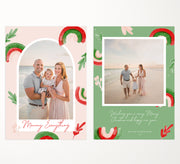 Christmas Card Template for Photographers, Photoshop Christmas Greeting Card, PSD Christmas Card, PSD Template, Christmas, CCB1004