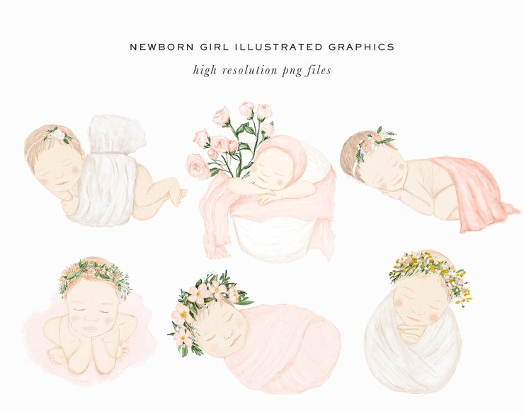 Newborn Clipart, Baby Clipart, Clipart for Photographers, Graphics for Photographers, Photography Graphics, Newborn Photography Clipart