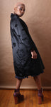 Lilija Nicis Couture black silk evening coat