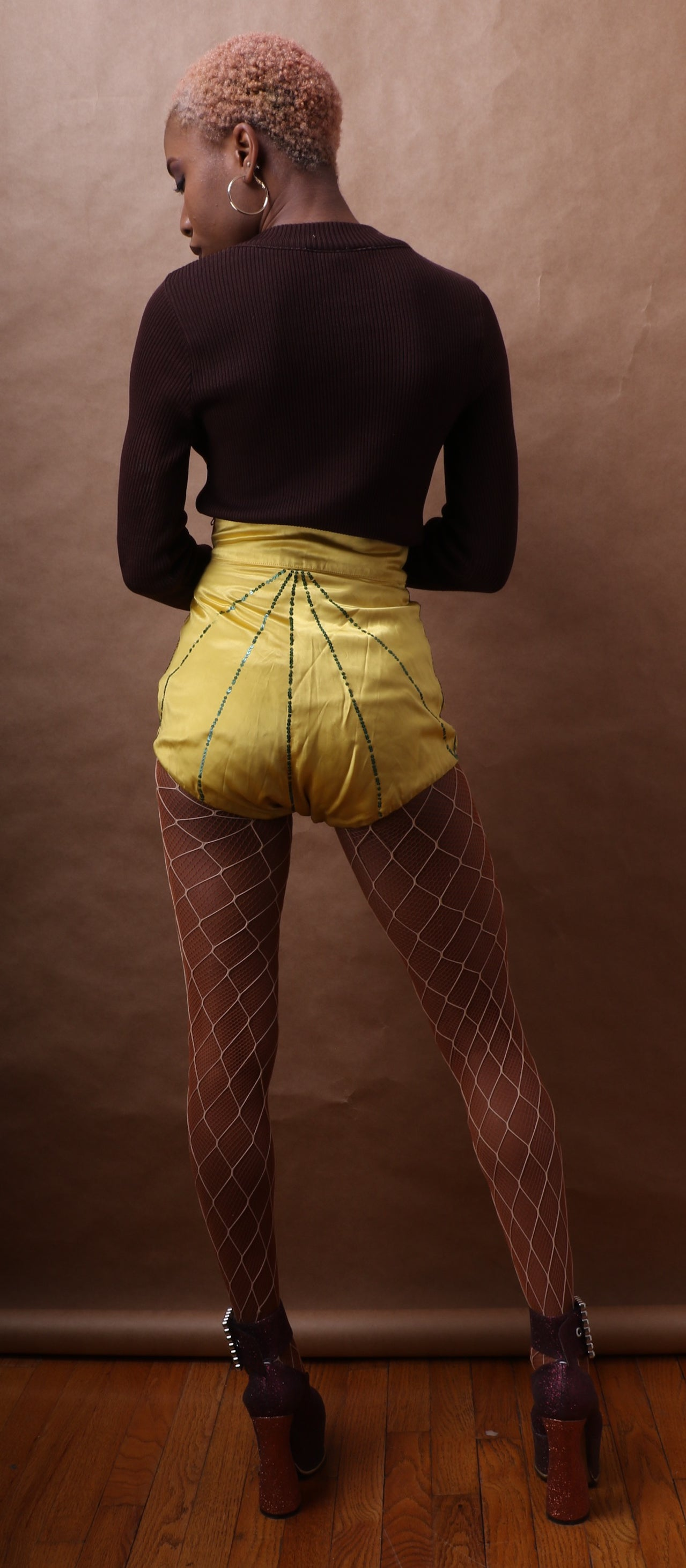 Vintage Silk Hand-sewn Burlesque Bloomers c. 1940