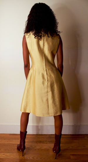 Cellini Boutique champagne silk shantung demi-couture ensemble