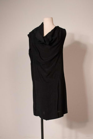 Vivienne Westwood black viscose assymetrical dress