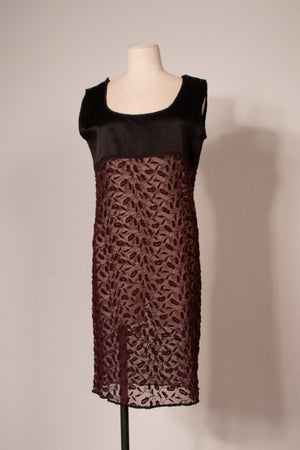 Jean Paul Gaultier purple embroidered silk tunic dress
