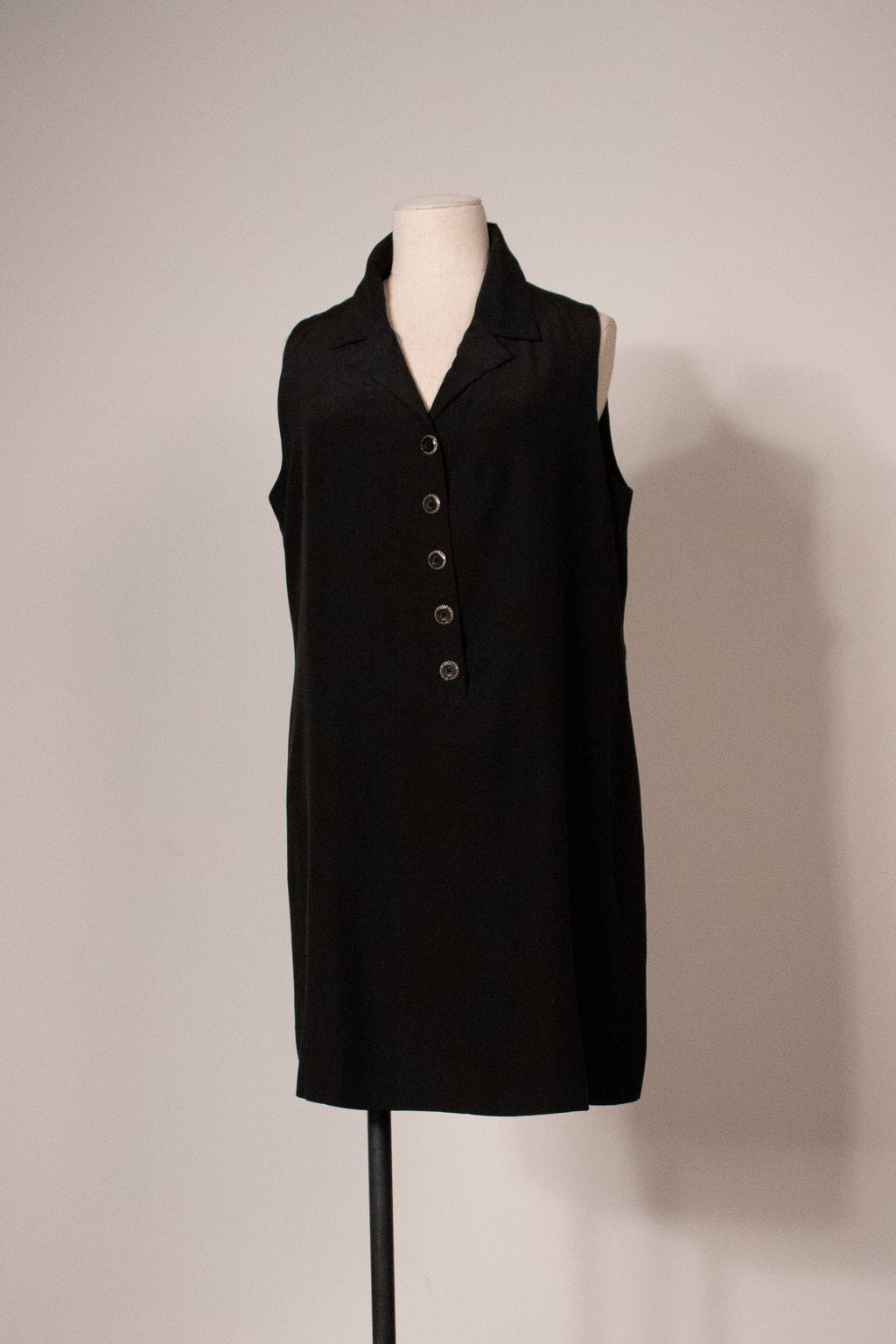 Karl Lagerfeld for Bergdorf Goodman black silk trapeze dress