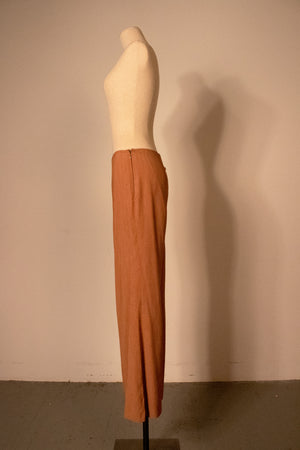 Jean Paul Gaultier copper rayon pant suit
