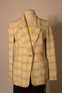 Christian Lacroix cotton blend tweed blazer