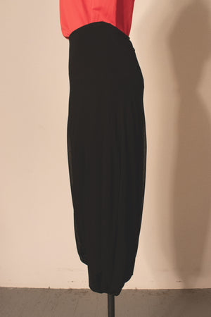 Jean Paul Gaultier black stretch rayon bubble skirt