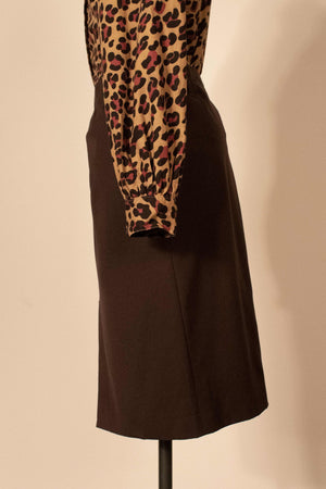 Margiela brown rayon pencil skirt