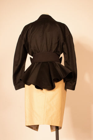 Thierry Mugler black wool bomber