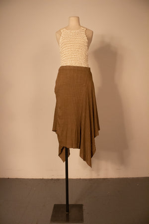 Vivienne Westwood brown linen asymmetrical skirt