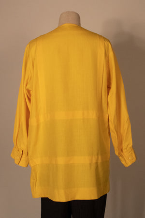 Givenchy Nouvelle Boutique yellow linen tunic