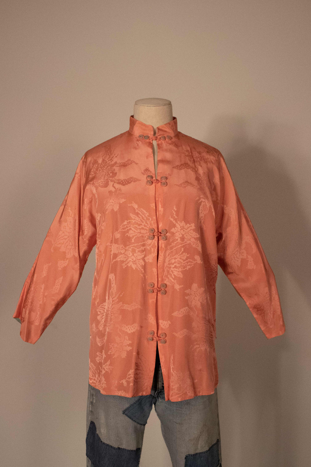 Gumps San Francisco pink silk jacket
