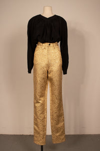 Maison Margiela cotton-silk brocade jeans (Size 36)