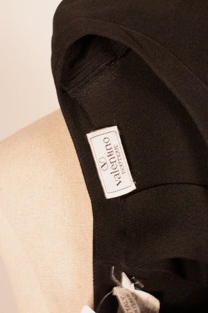 Valentino black crepe button back top