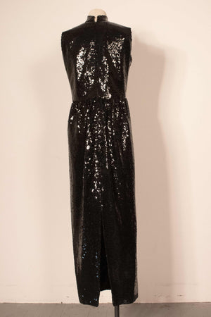 Carmen Zweig (for A Touch of Paris on Cape Cod) black sequin gown