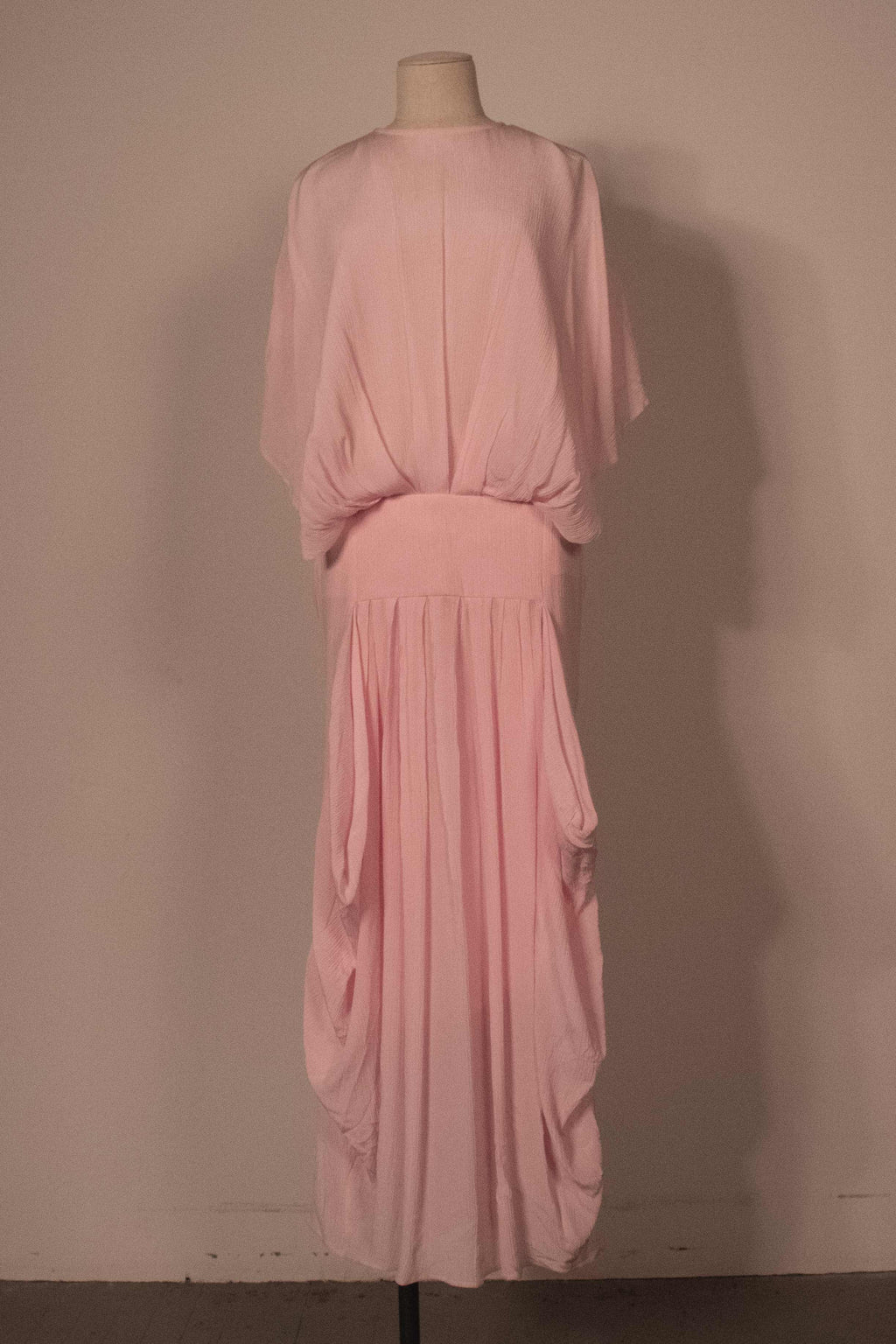 JW Anderson blush pink sheer silk fulllength gown