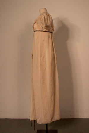 Carolina Herrera cream silk evening gown