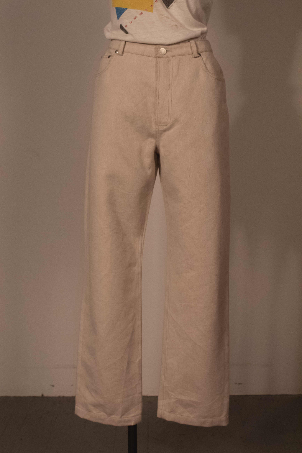 Hermes (by Margiela) cream denim pants
