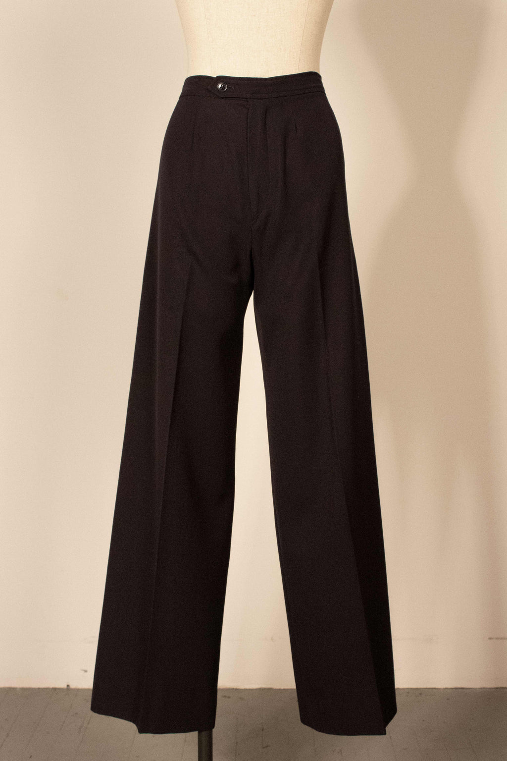 YSL navy wool trousers