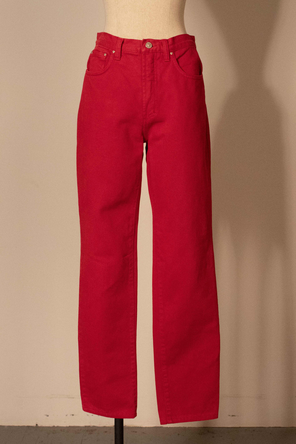 Versace (Jeans Couture) red denim jeans