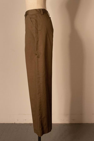Gaultier green cotton army trousers