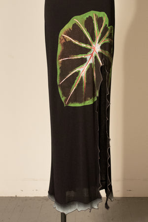 Christian Lacroix black crepe stretch dress