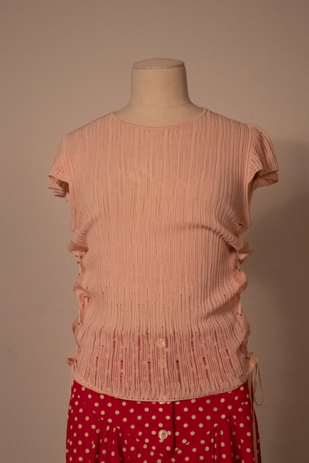 Chanel pink cotton blend knit top