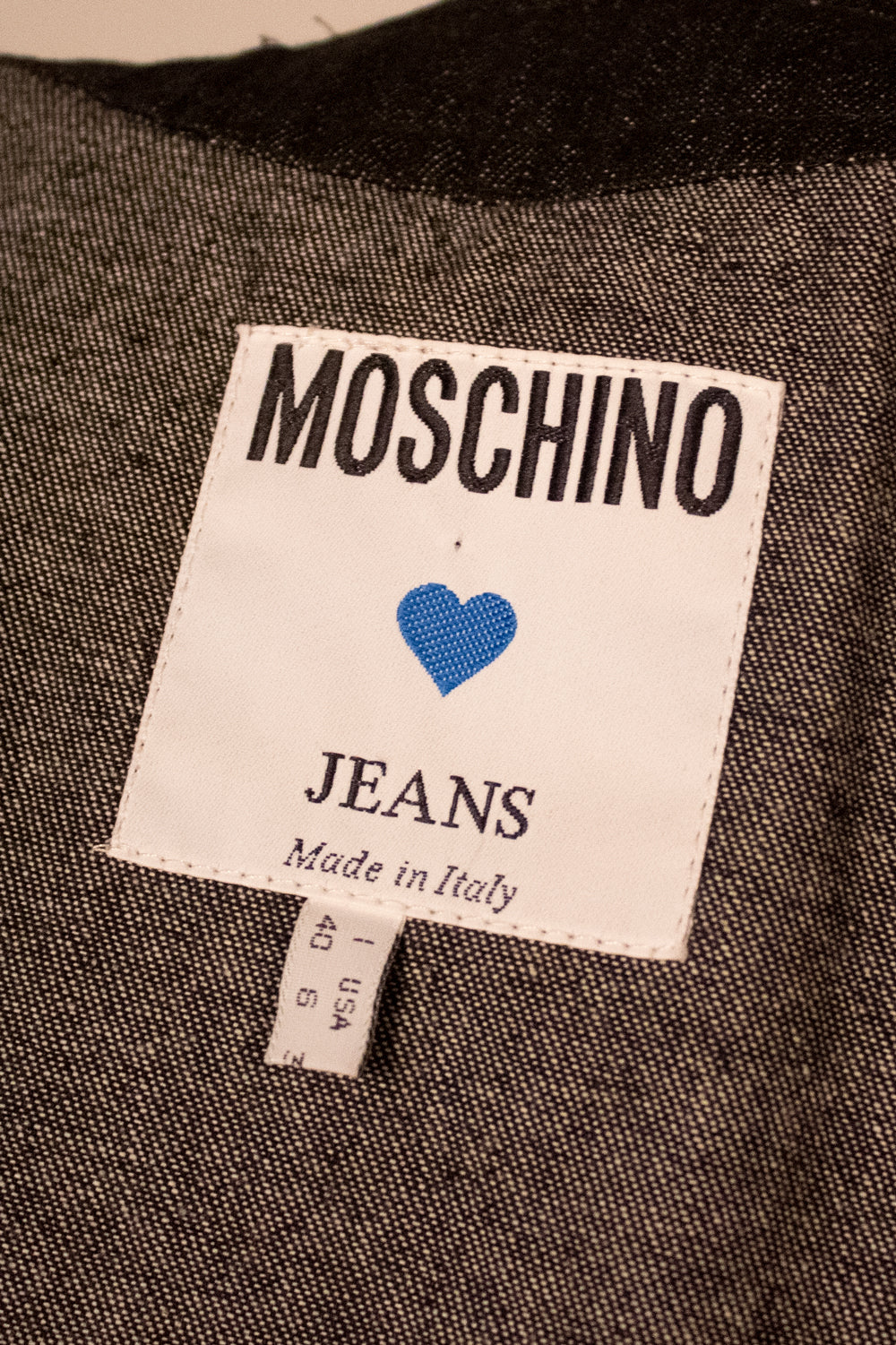 Moschino Jeans for Bergdorf Goodman shortsleeve denim jacket