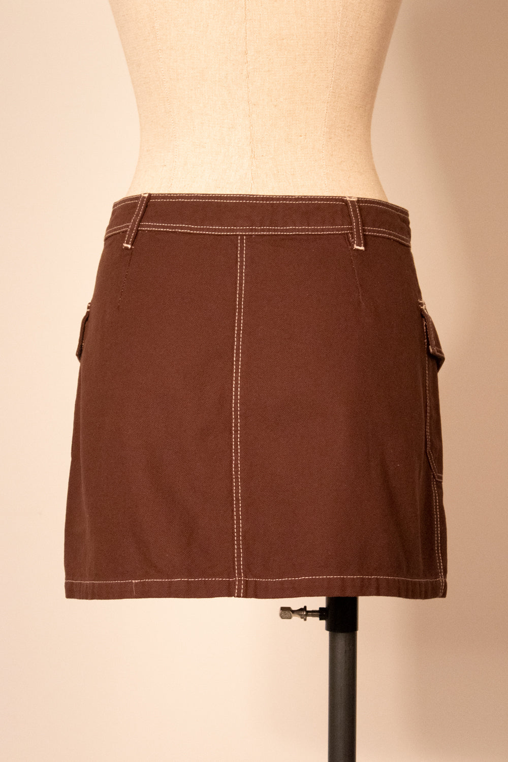Moschino Jeans brown cotton super mini skirt