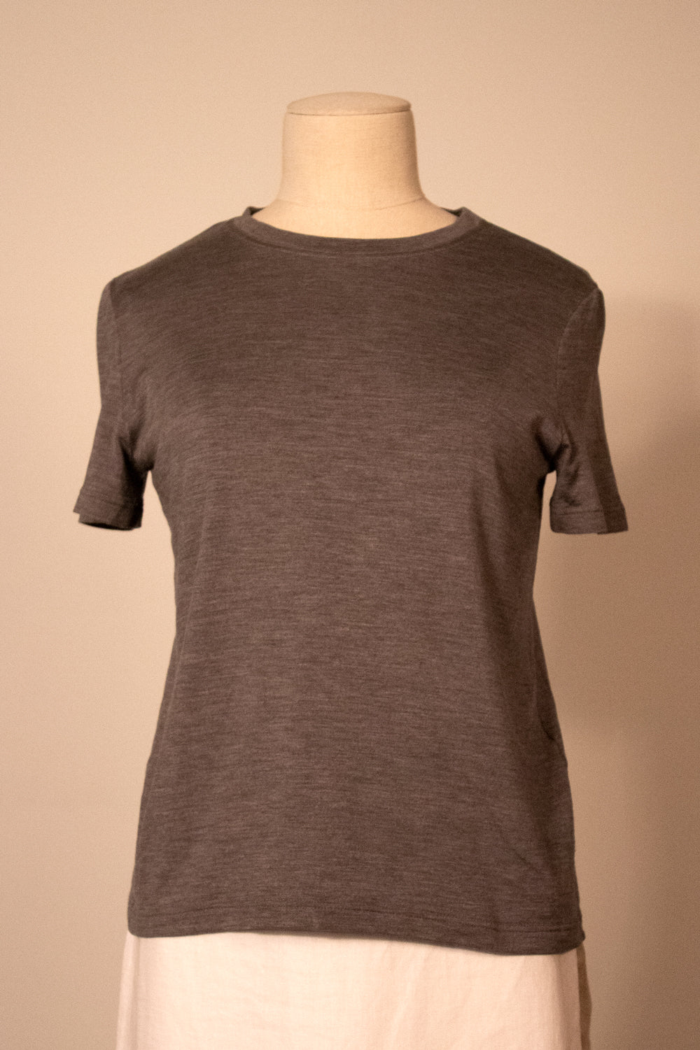 Hermès by Margiela dark gray stretch silk tee
