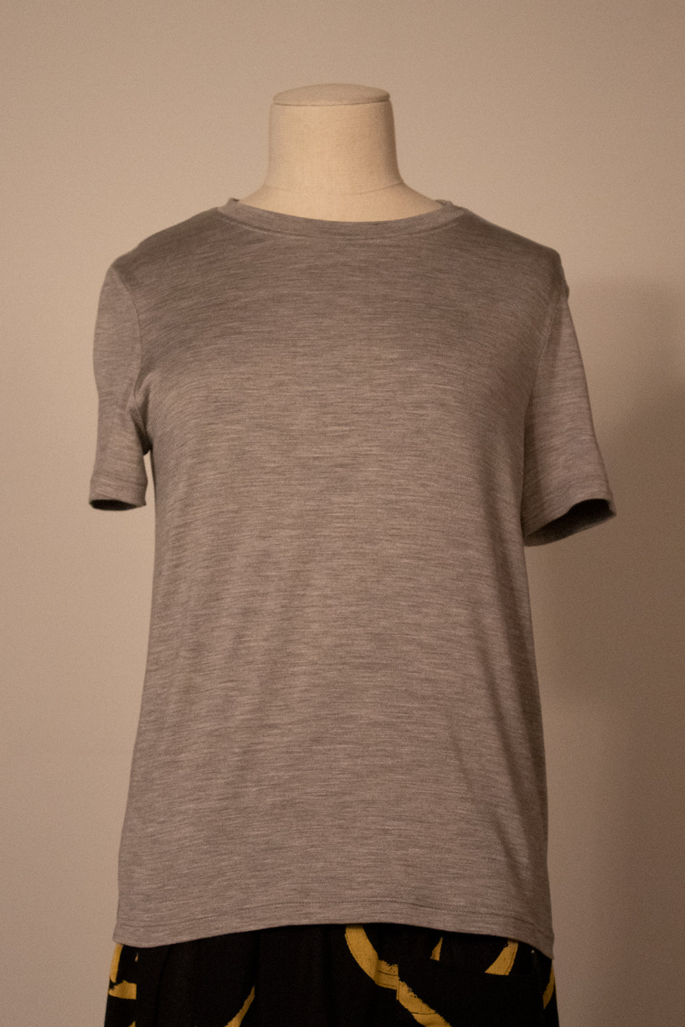 Hermès by Margiela light gray stretch silk tee