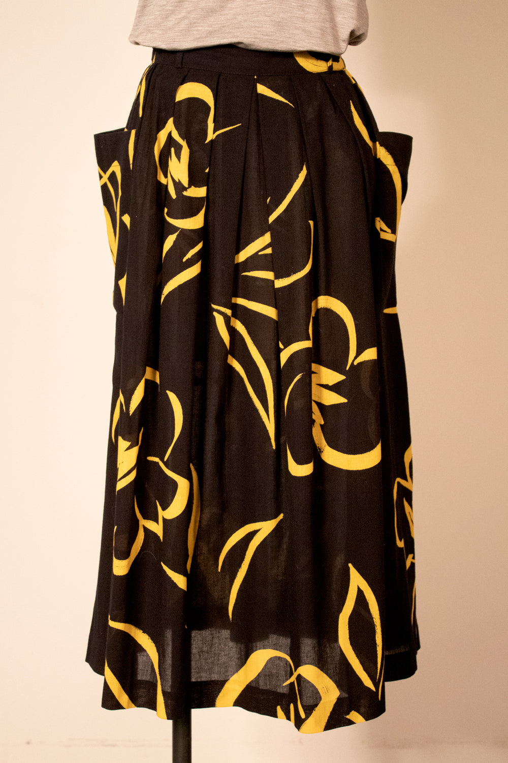 Caroline Rohmer abstract floral printed skirt