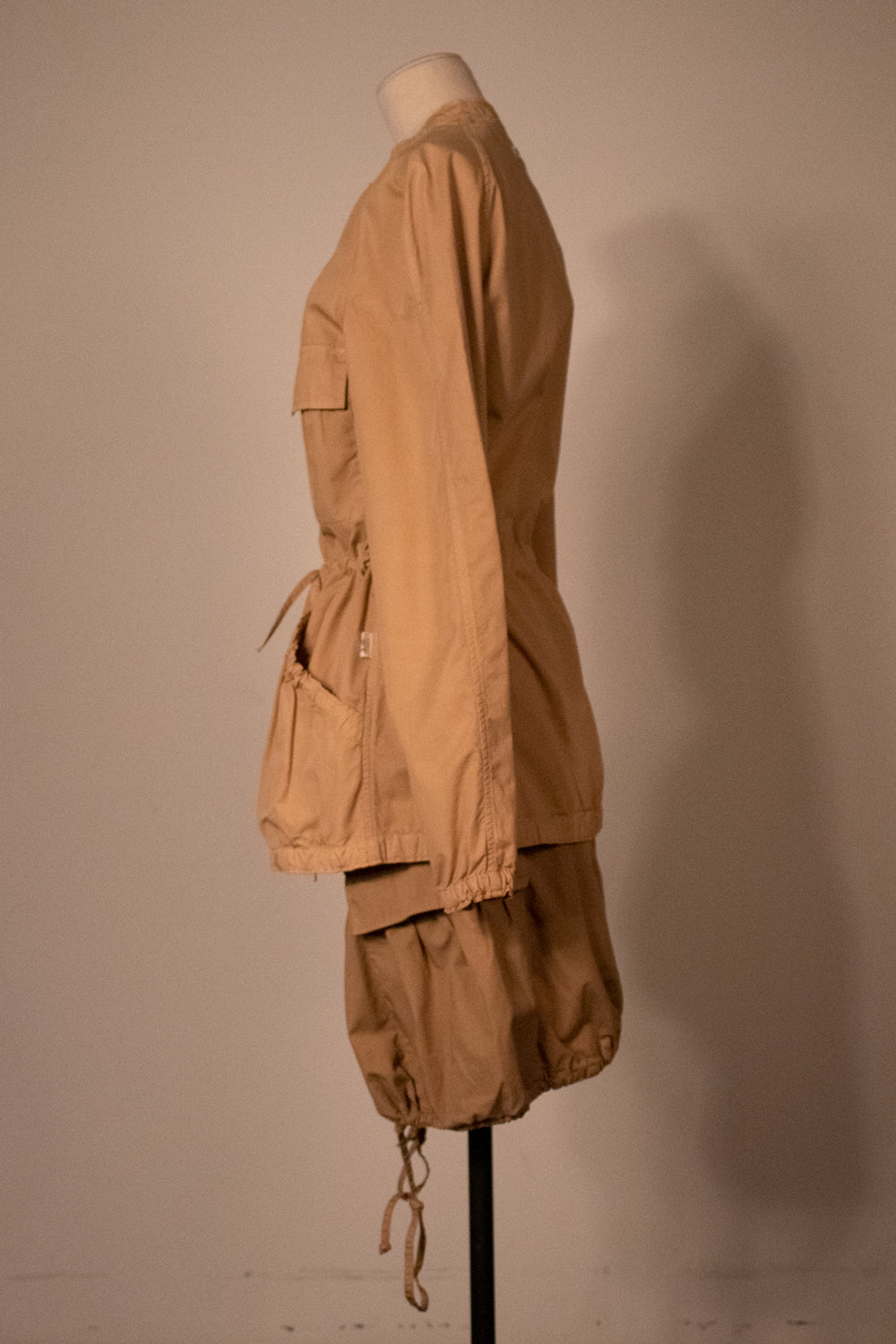 Jean Paul Gaultier Jeans khaki cotton double zip jacket