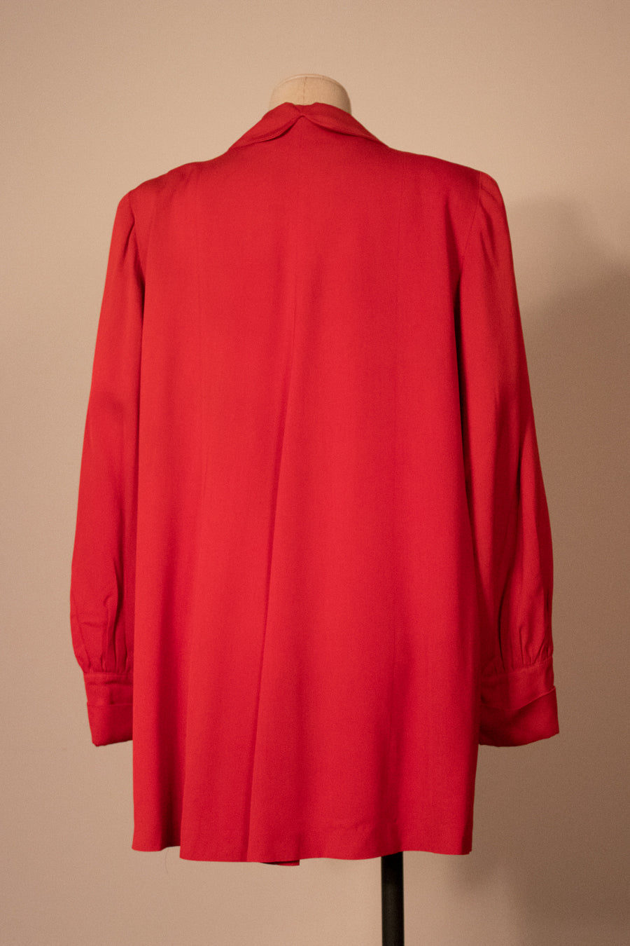 1940s red wool cape