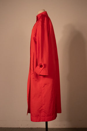 Yves Saint Laurent poppy nylon trench coat