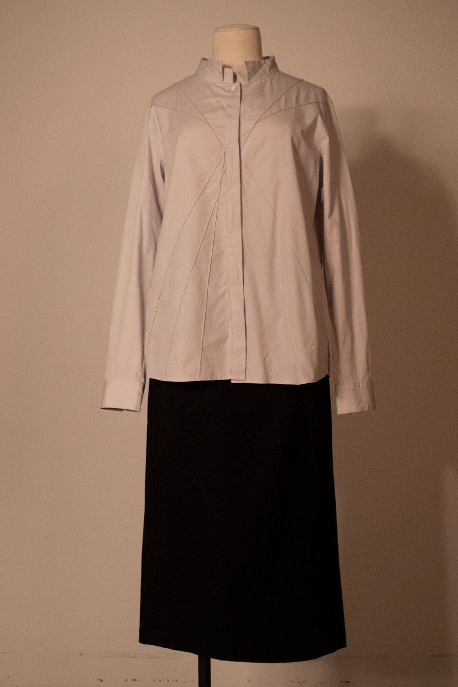 Issey Miyake pale blue button-front shirt