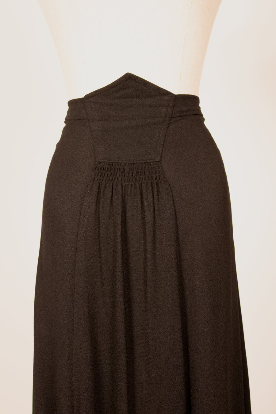 Henri Bendel black crepe maxi skirt