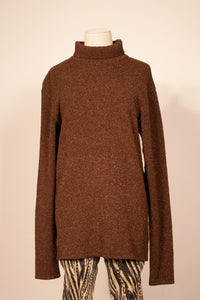 Matsuda brown sparkly rayon turtleneck sweater