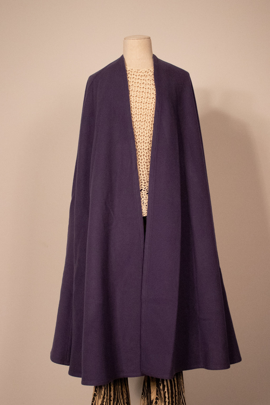 YSL purple wool cape