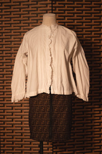 Antique French cotton blouse