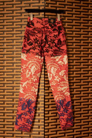 Gaultier Jeans red ombre printed jeans
