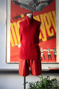 Romeo Gigli red cotton sleeveless knit