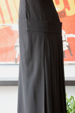 Jean Paul Gaultier black wool maxi skirt