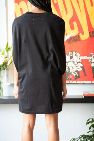 Maison Margiela black sleeveless tunic top