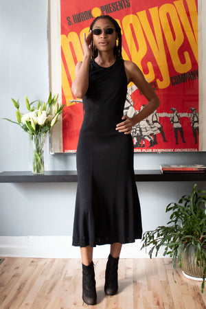 Alaia black sleeveless dress